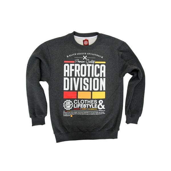 AFROTICA bluza klasyk DIVISION 317 B / szary